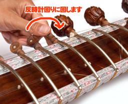 シタールの共鳴弦の替え方