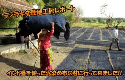 インド藍を使った泥染め布の村に行って来ました!