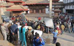 ネパールで映画の撮影現場に出会いました