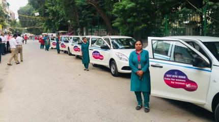 デリー国際空港に女性だけが運転するタクシーが登場!
